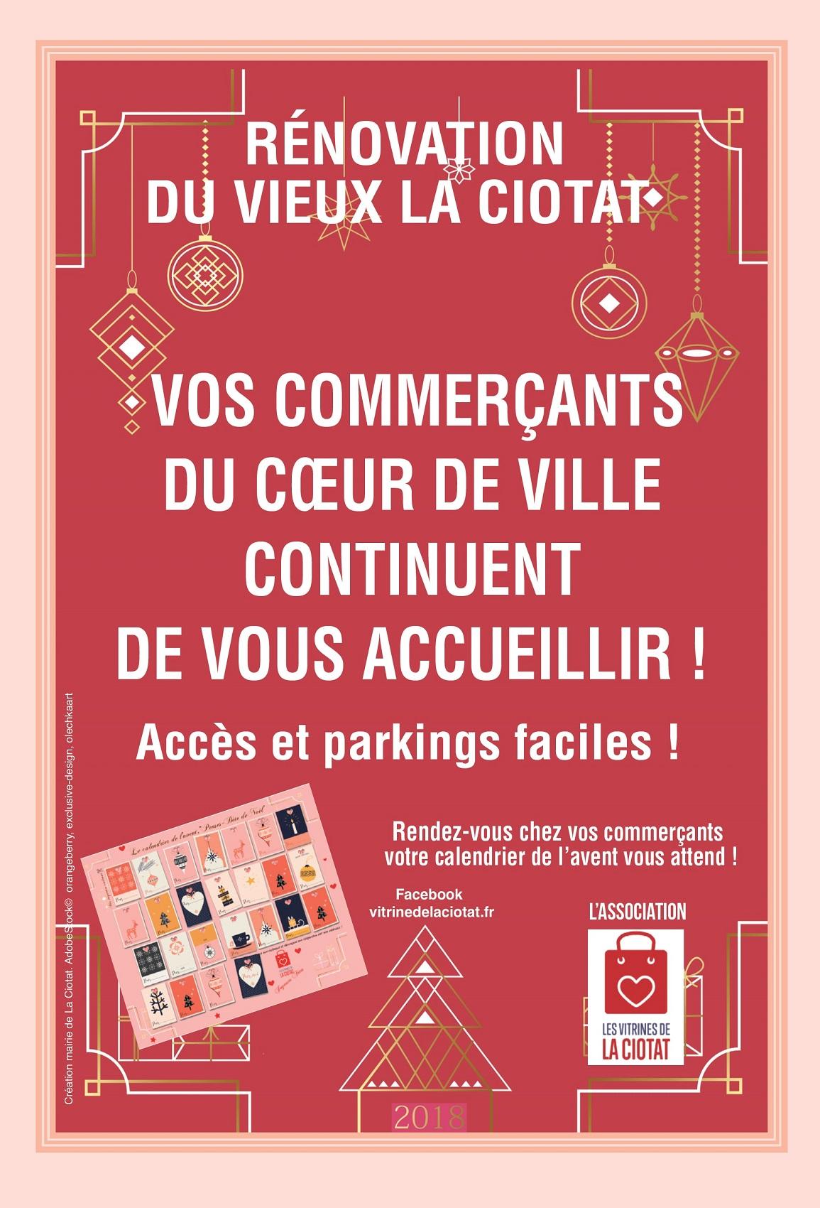 Affiche Commerçants Noël 2018