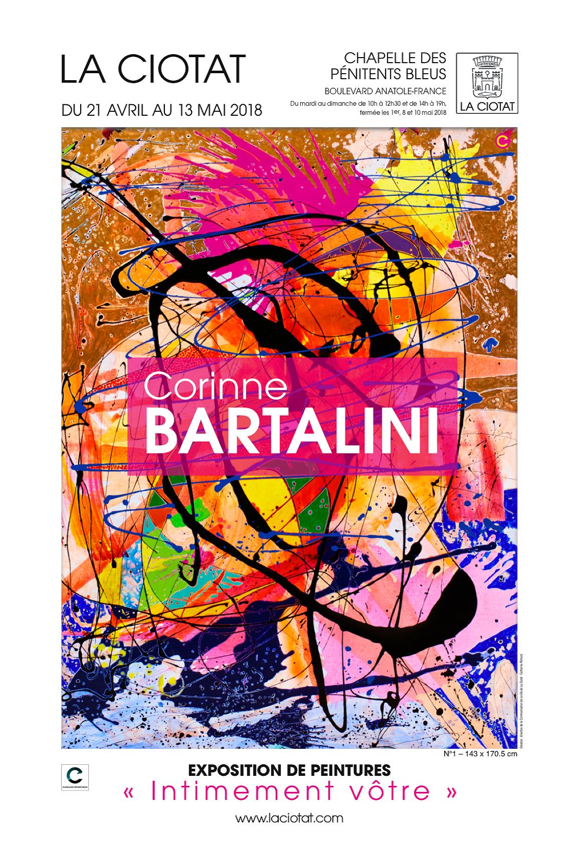 Affiche Exposition Bartalini 2018
