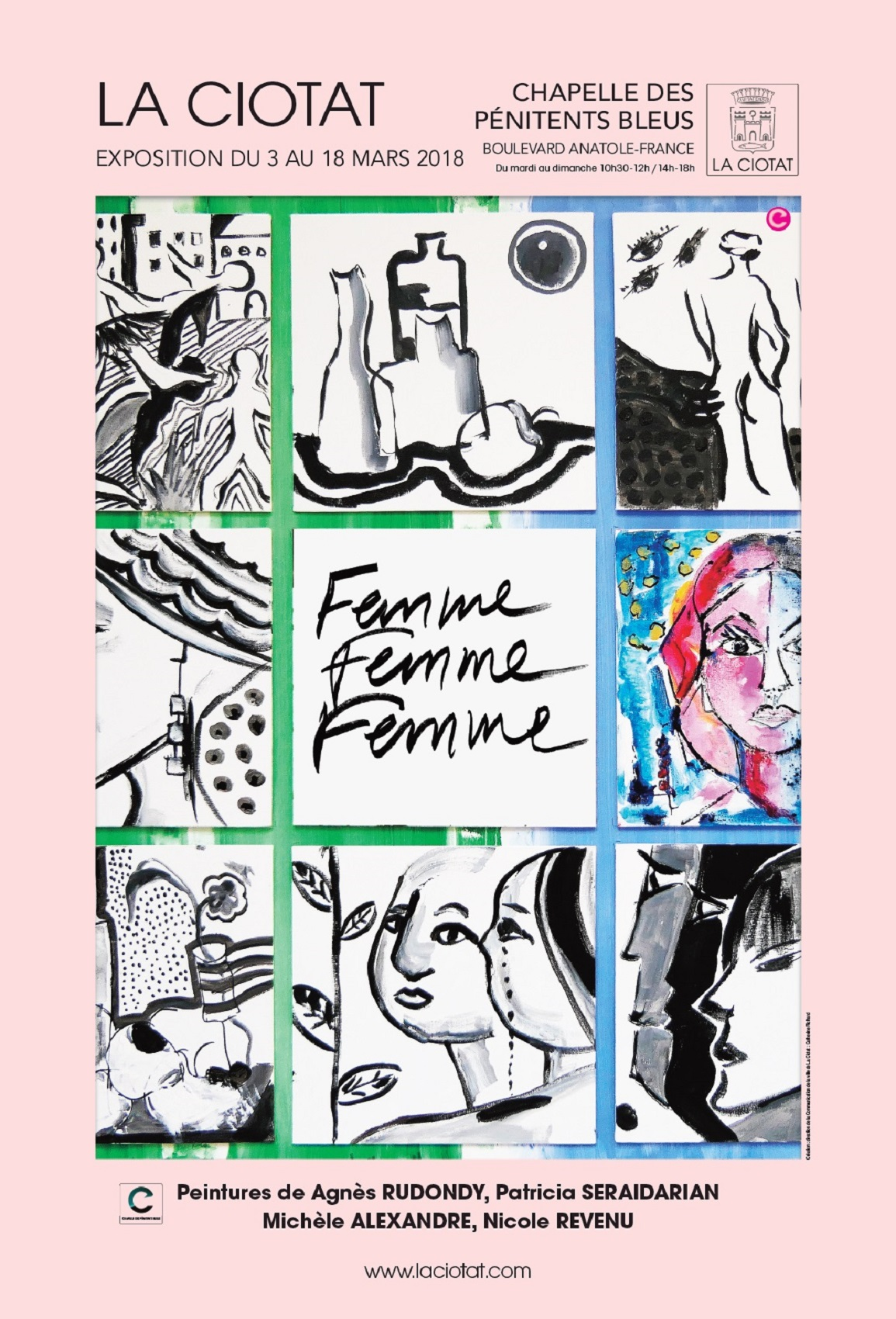 Affiche Exposition Femme Femme Femme