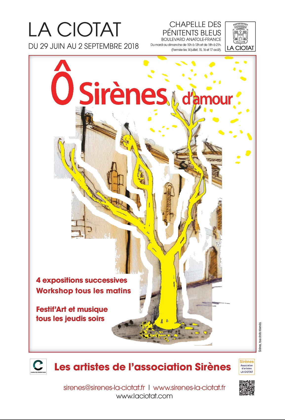 Affiche Exposition Sirenes d amour 2018