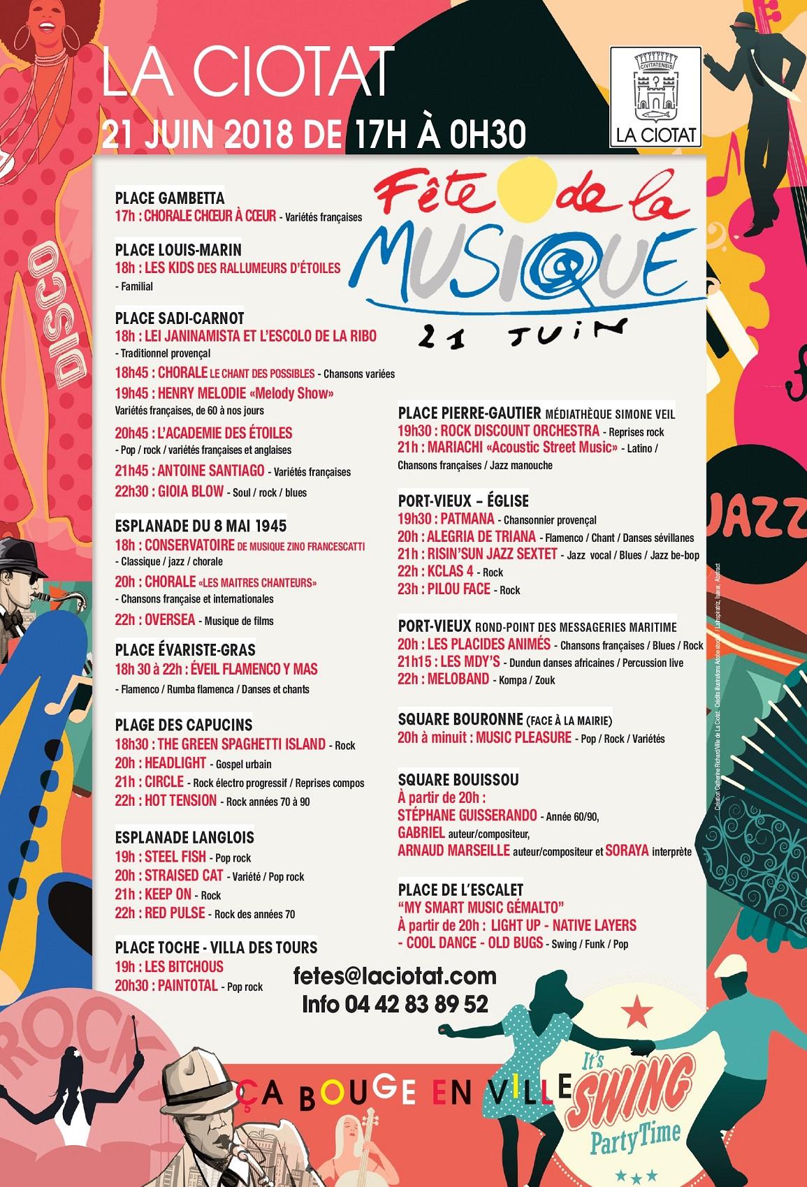 Affiche Fête de la musique Prog 2018