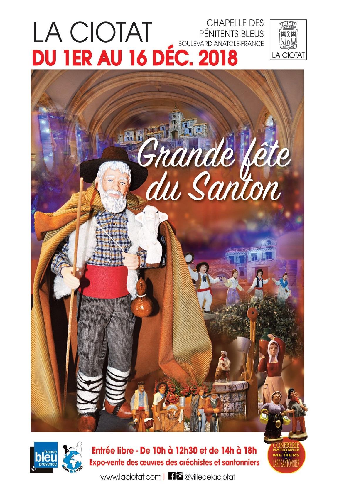 Affiche Fête du santon 2018