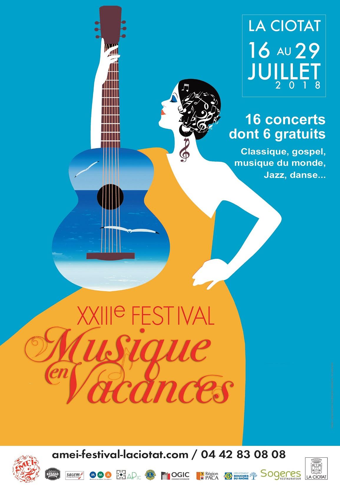 Affiche Festival Musiques en vacances 2018
