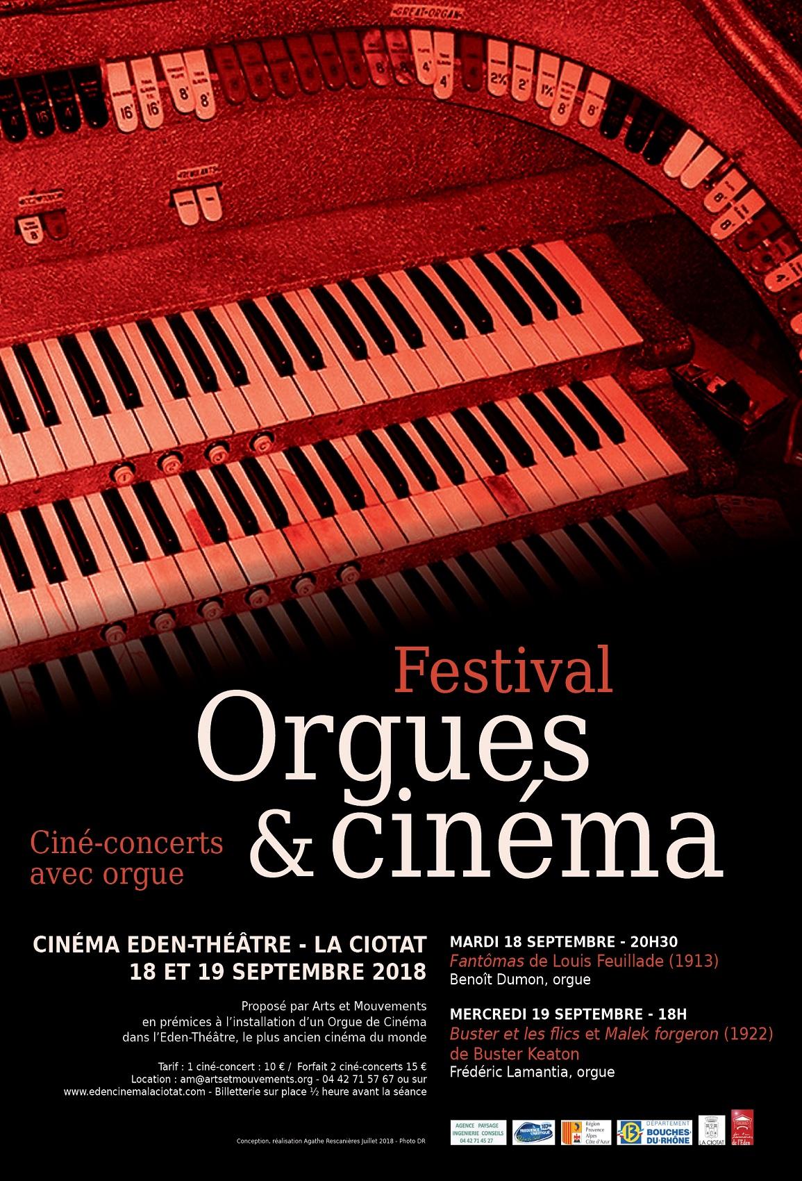 Affiche Festival Orgues et cinema 2018
