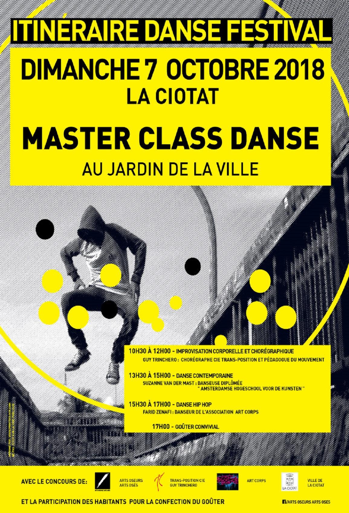Affiche Itinéraire Danse festival 2018