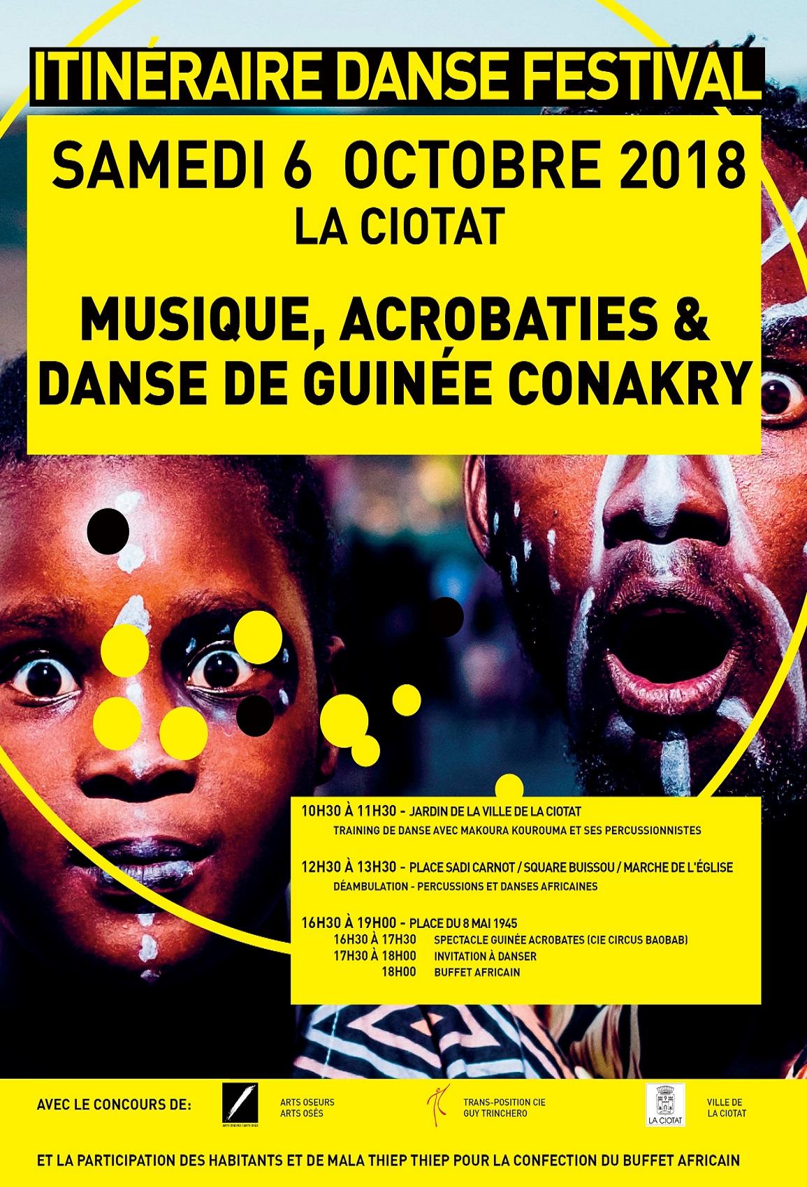 Affiche Itinéraire danse 2018