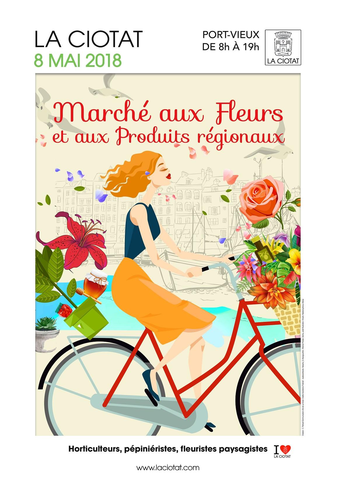 Affiche Marché aux fleurs 2018