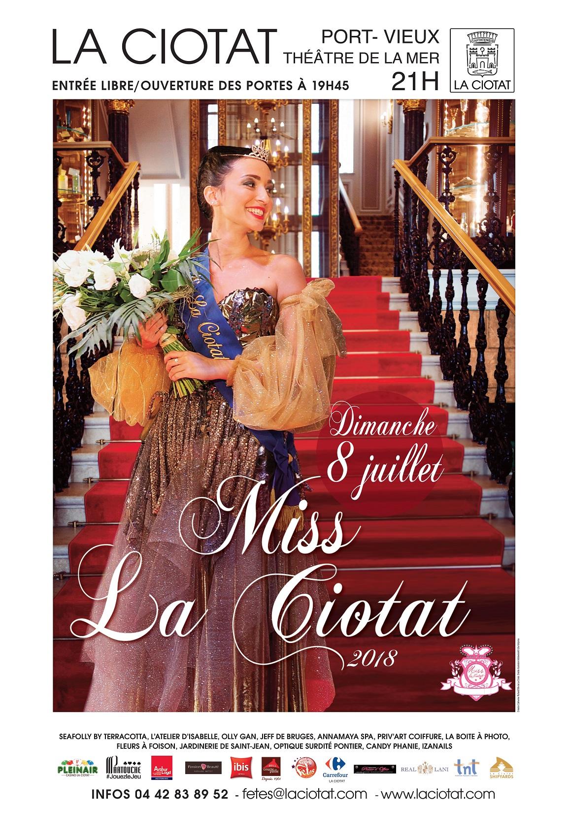Affiche Miss La Ciotat 2018