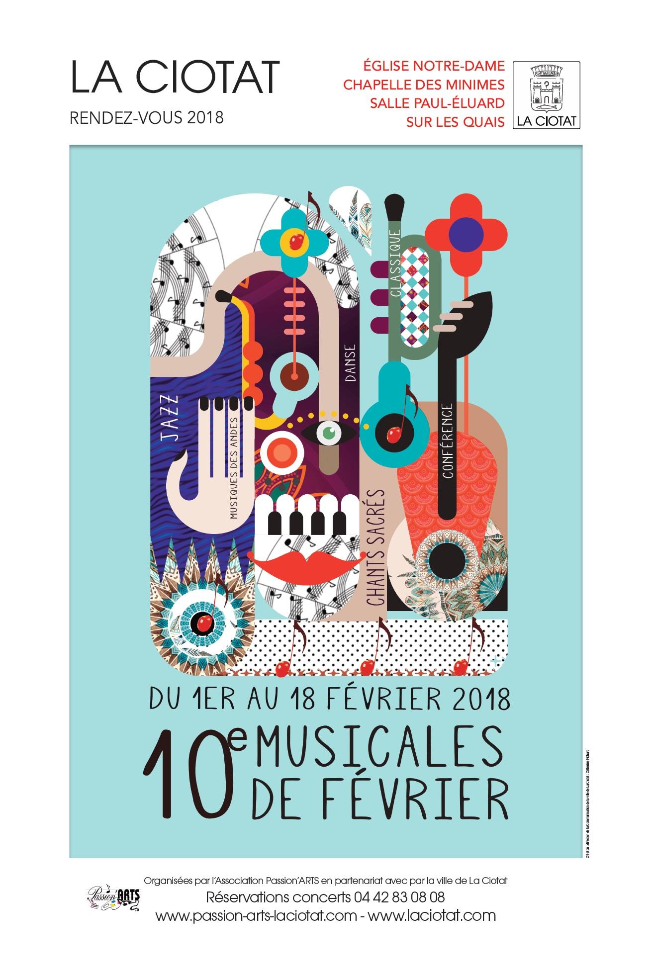 Affiche Musicales Février 2018