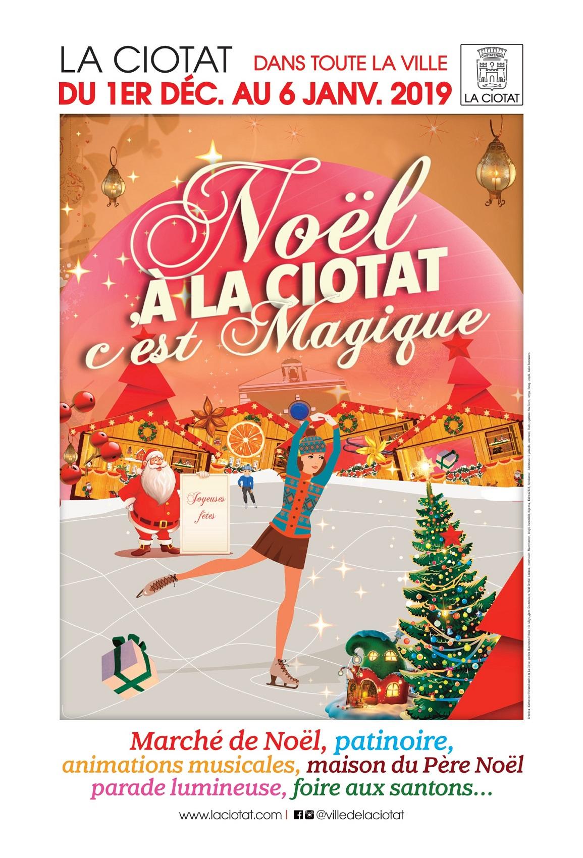 Affiche Noël a la ciotat 2018