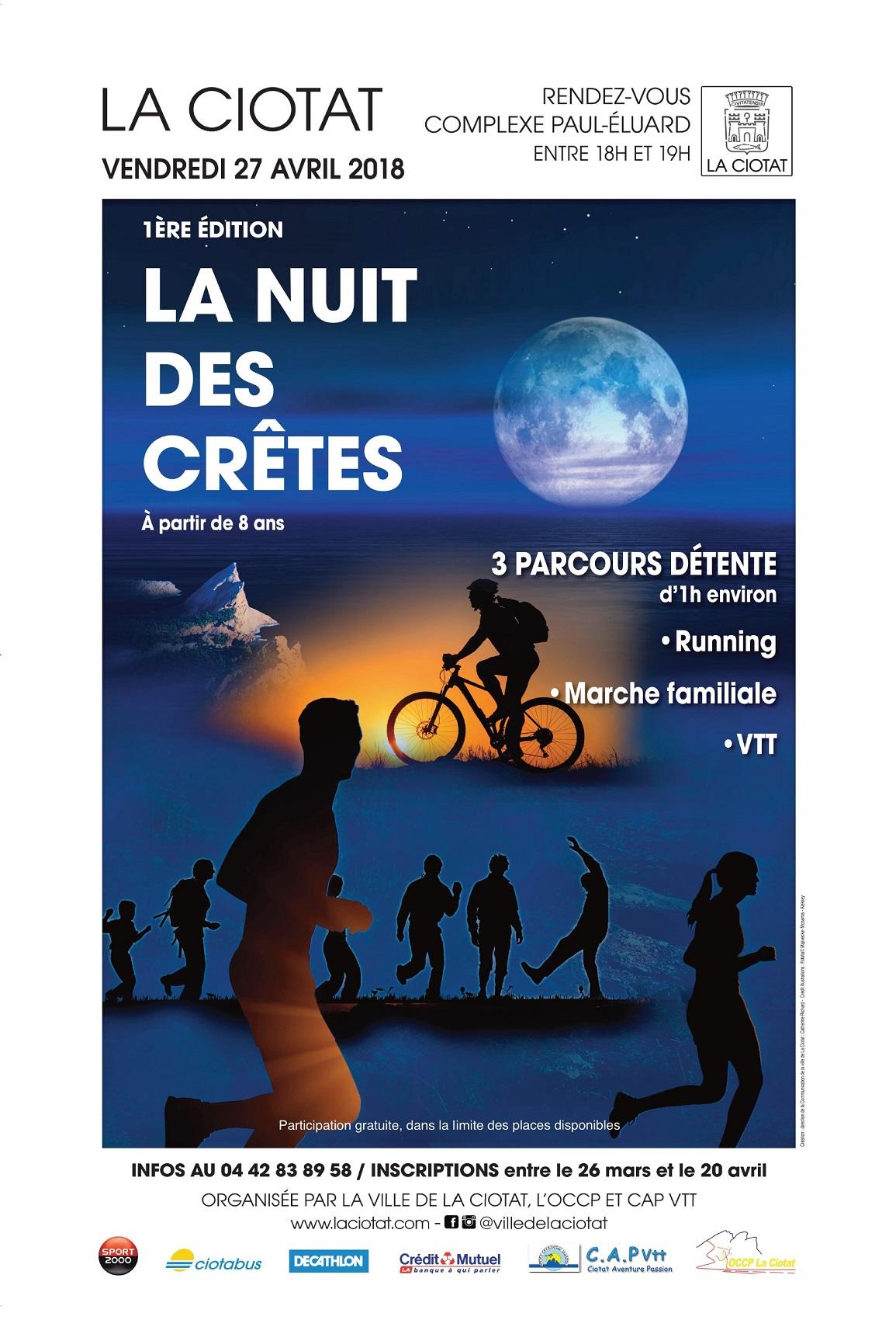 Affiche Nuit des cretes 2018