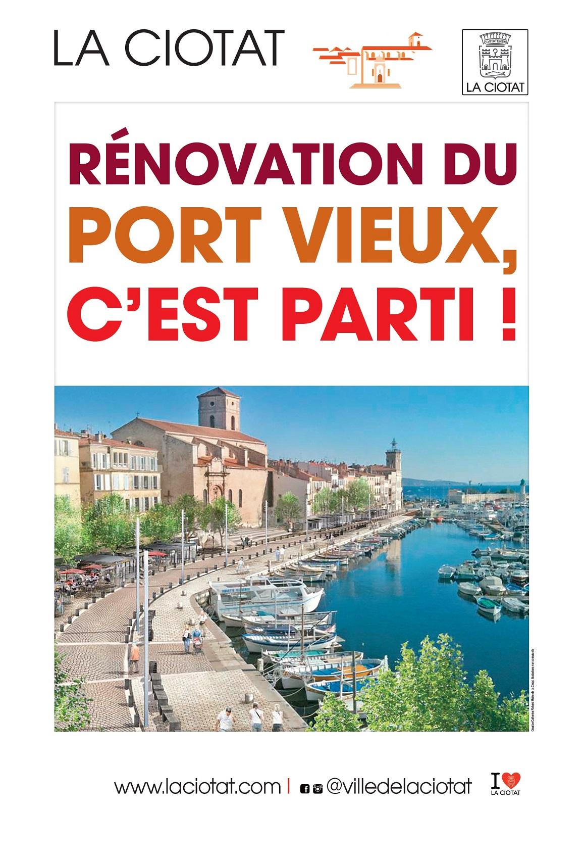 Affiche Rénovation Port Vieux 2018