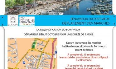 RÉNOVATION DU PORT-VIEUX - DÉPLACEMENT DES MARCHÉS