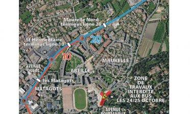 Modification arrêt de bus ligne 10 & 20 - rénovation urbaine du quartier de l'Abeille