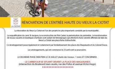 RÉNOVATION DE L'ENTRÉE HAUTE DU VIEUX LA CIOTAT