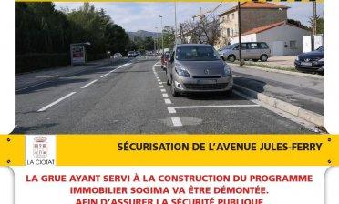INFOS TRAVAUX - SÉCURISATION DE L'AVENUE JULES-FERRY