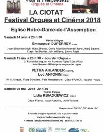 Festival Orgues et Cinéma 2018.
