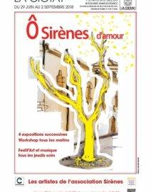 Exposition «Ô sirènes d'amour», collectif d'artistes de Sirènes