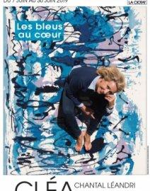 Exposition peintures «Les bleus au cœur ». Cléa