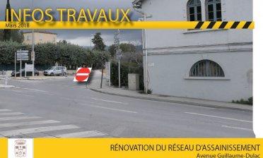 Rénovation du réseau d'assainissement Avenue Guillaume-Dulac